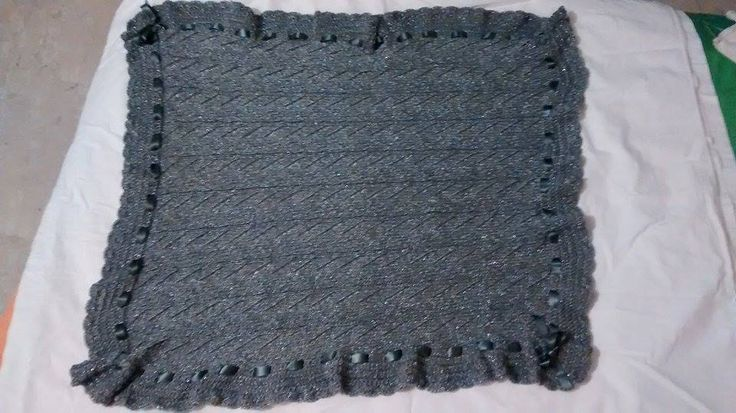coperta per neonato in lana grigio perla lamè,maglia,knitting