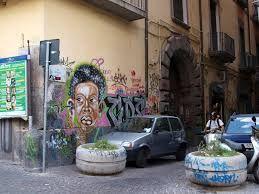 Skuncikat face graffiti piazzetta monteoliveto