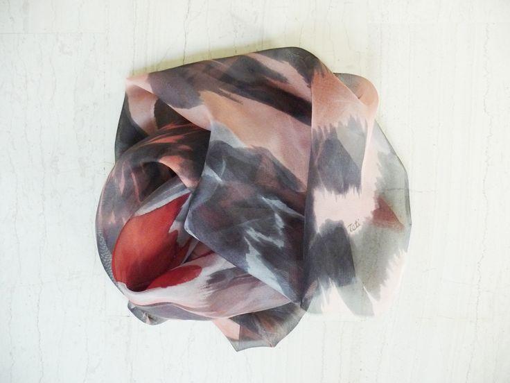 Handpainted silk scarf 160x46