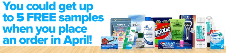 You could get up to 5 FREE Samples when you place an order in April!