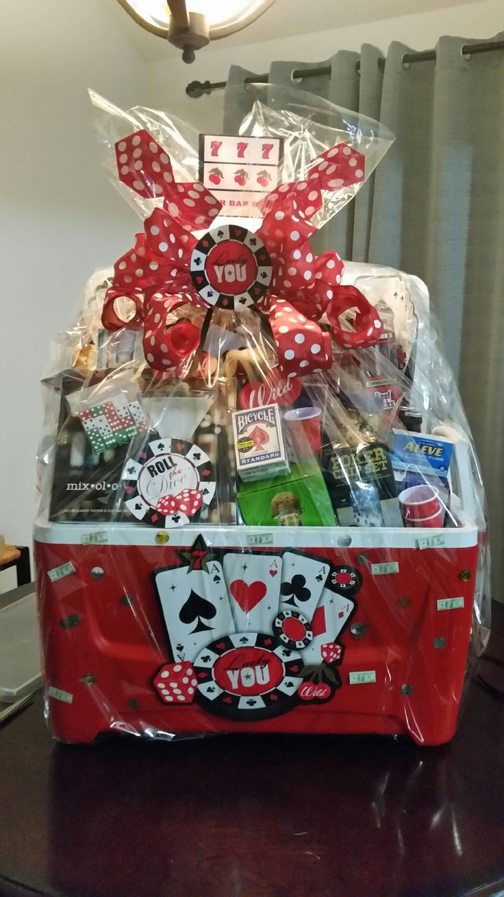 Ways to decorate gift bags - Casino Theme Casino Party Slot Machine Men Gifts Basket Ideas Gift Baskets Casino Decorations Gift Bags Neighborhood Party