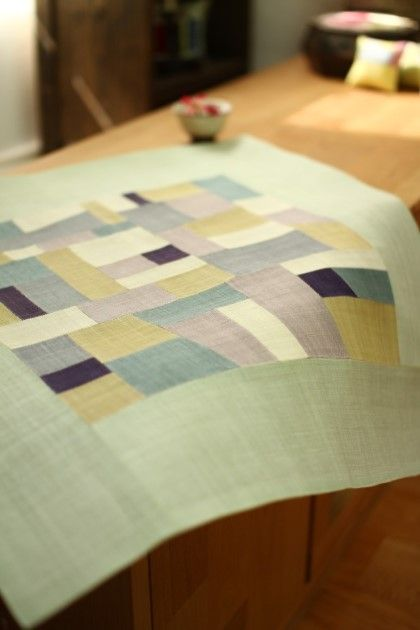 A table mat? I like the pale sage green with the other colors.
