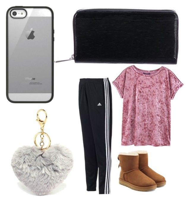 """""""Mall Outfit"""" by laken-ridgwell on Polyvore featuring Belkin, Louis Vuitton, adidas, MANGO and UGG"""