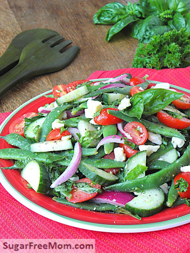Italian Green Bean Salad is clean, healthy and under 100 calories per cup! sugarfreemom.com