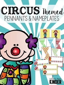 Circus Themed Classroom Pennants & Nameplates