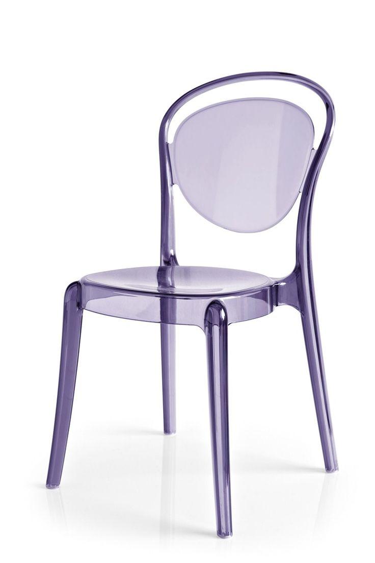 Stackable polycarbonate chair PARISIENNE - @calligaris1923