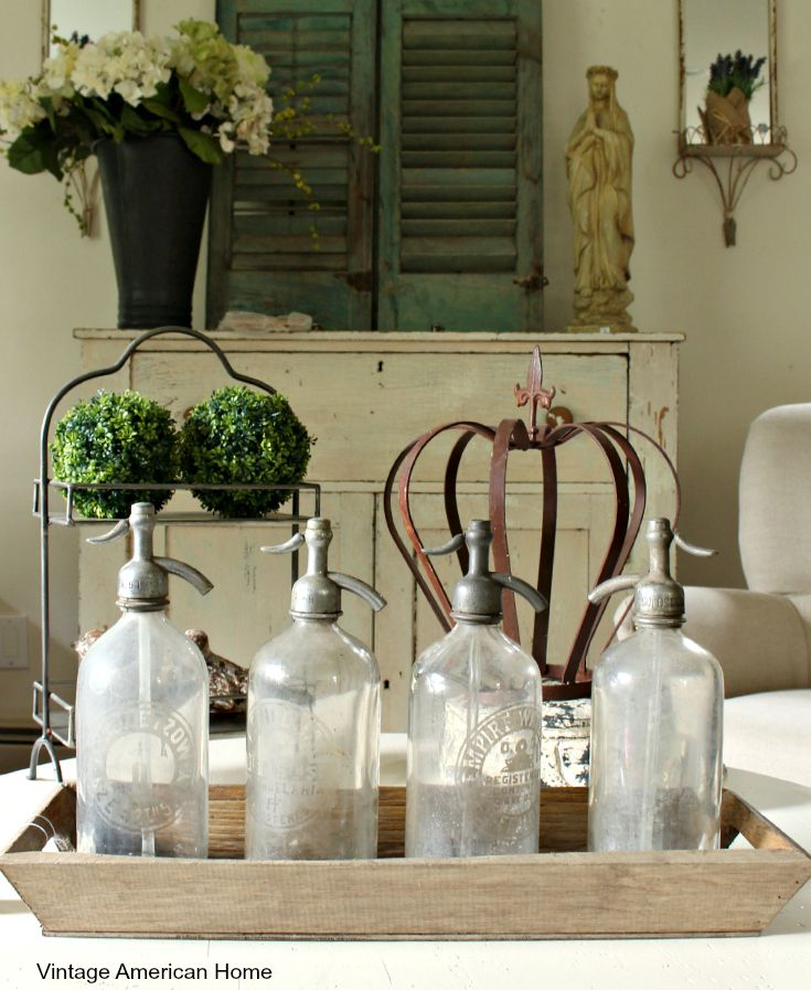 Vintage Selzer water bottles are now on sale for $30 each at Vintage American Home. or the urban farmhouse style.