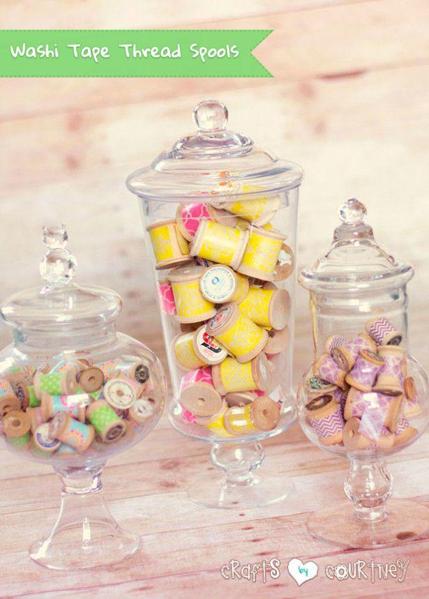 Create Super Simple Washi Tape Thread Spool Craft Decorations