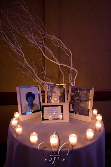 Memory Table Ideas i like this idea for my family that has already passed as well as Memory Table The Sheraton Grand Suzan Alan A Sleek Soiree Of Modern