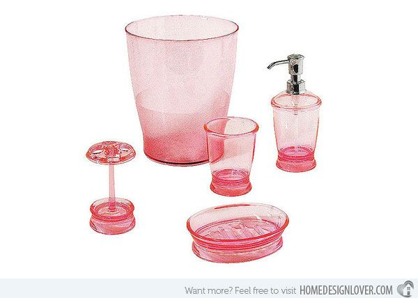 1000 Ideas About Pink Bathroom Accessories On Pinterest | Pink .