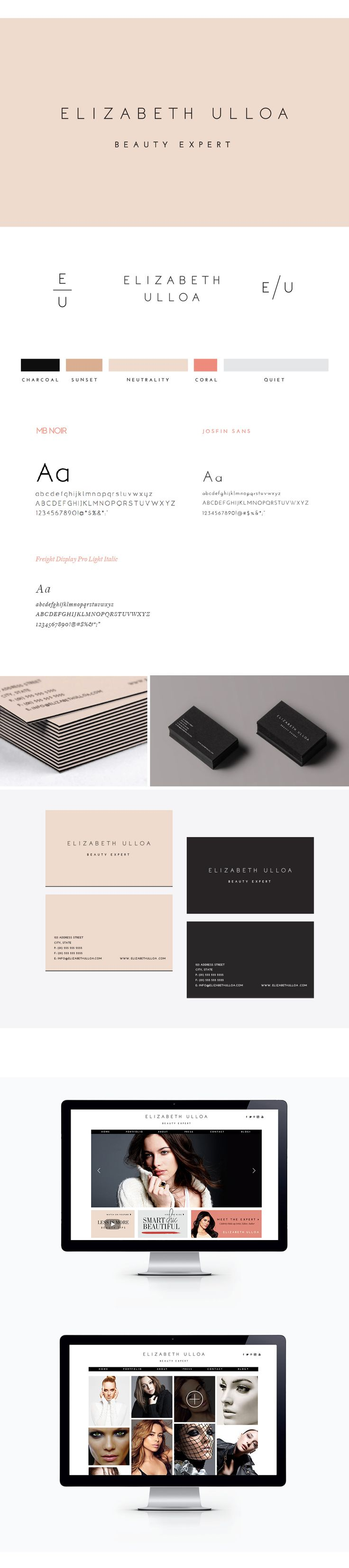 Elizabeth Ulloa Branding, by Julia Kostreva