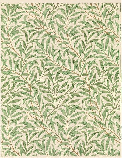 'Willow Bough.' Block-printed wallpaper designed 1887 by William Morris for Morris & Company - courtesy The Metropolitan Museum of Art (heaveninawildflower)