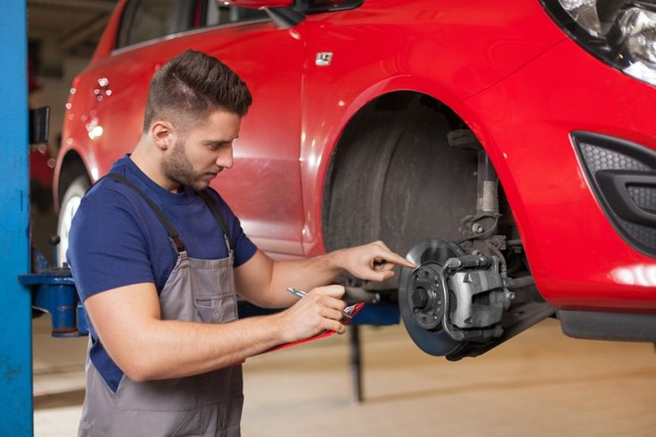 There are several components of the braking system that should be inspected and replaced if needed, including brake pads and rotors. Don't forget to schedule a brake repair.