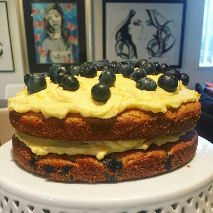 Rachel Allen's Blueberry and Coconut Cake with Lemon Cream - Dinner party in October 2015