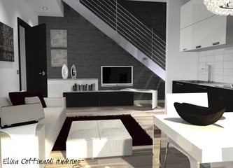 living with stair