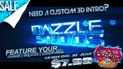 11 Sec. 3D Text Intro - Custom Digital Video Drop