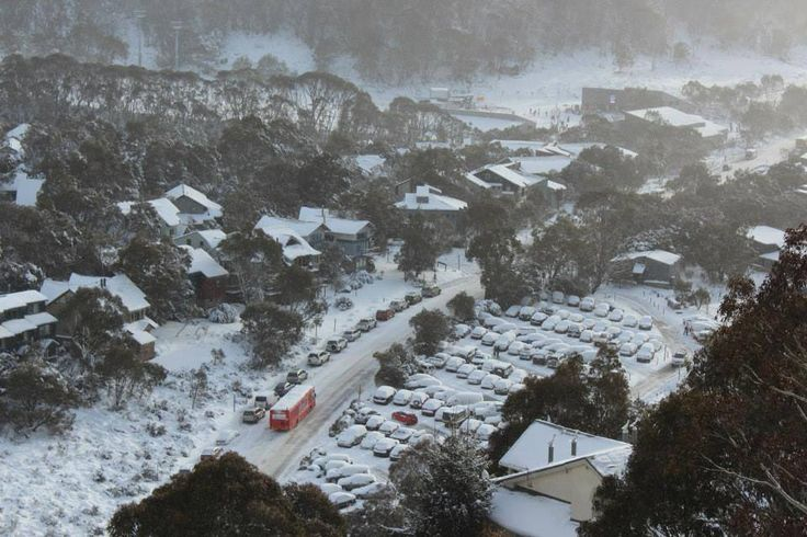 Snow at Thredbo Village, one of Australia's ski resorts in New South Wales #snowaus
