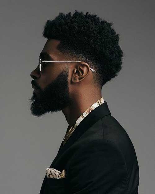 50 Amazing Black Men Haircuts (Stylish & Sexy) - Hairmanz Black Man Haircut Fade, Black Hair Cuts, Black Men Haircuts, Black Men Hairstyles, Fade Haircut, Cool Haircuts, Afro Hairstyles, Taper Fade Curly Hair, Tapered Afro