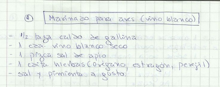 MARINADO PARA AVES (VINO BLANCO)   #SALADO #SALSAS #ADEREZO #VINO