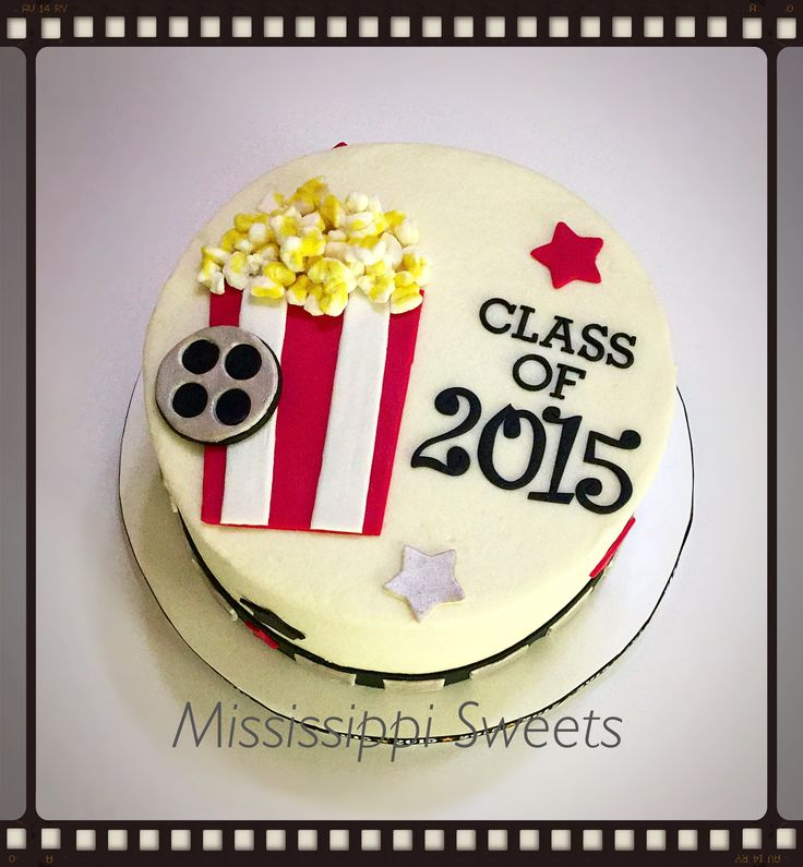Movie themed graduation cake  Mississippi Sweets  Pinterest  Movies ...