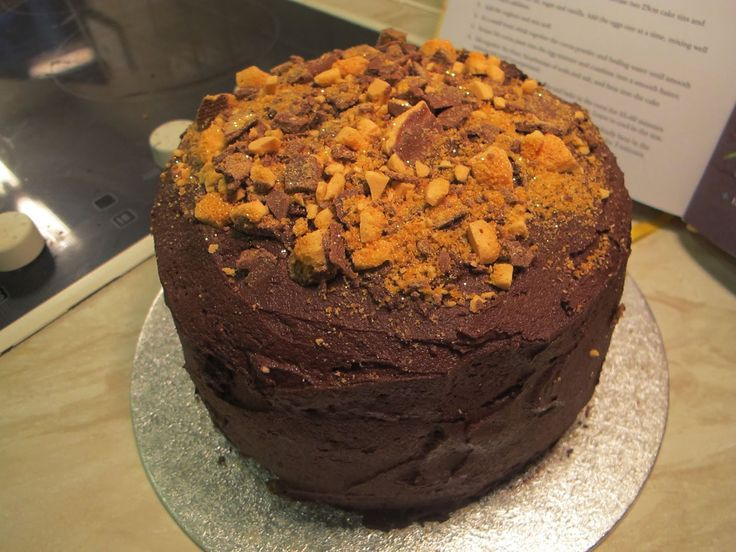 Cadbury Crunchie Triple Chocolate Fantasy Cake