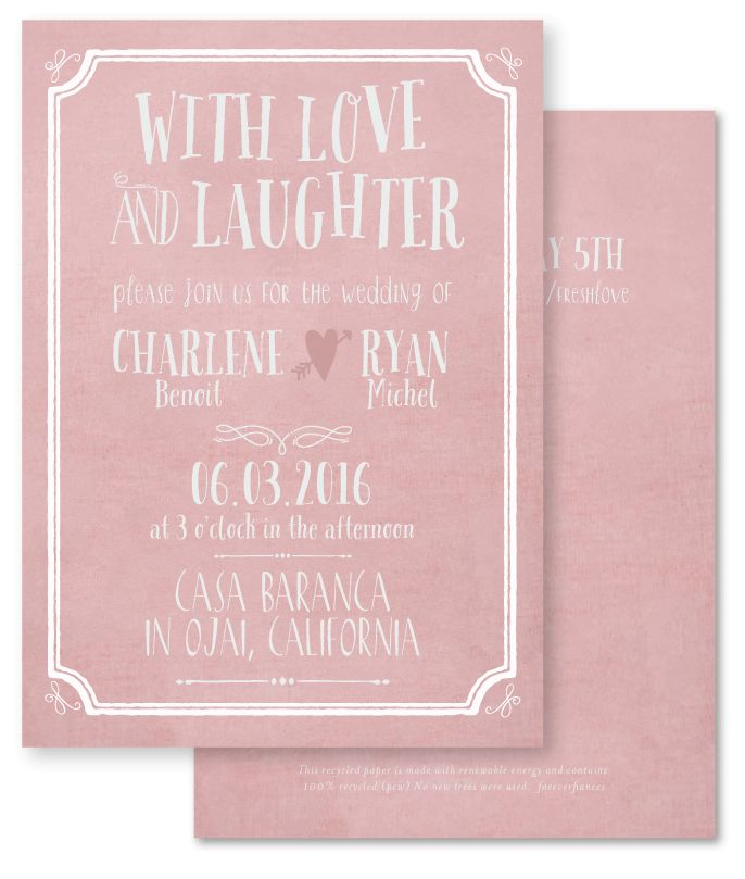 Designer Wedding Invitations   Pink Love