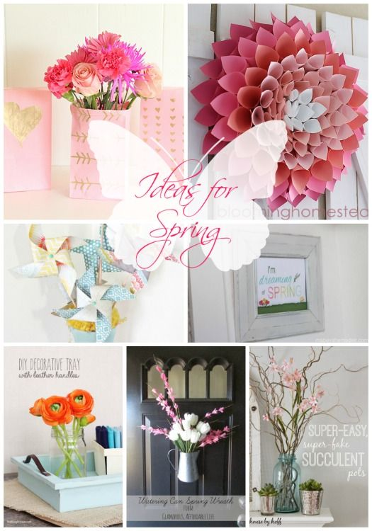 Brighten up your home for Spring with one of these 20 DIY ideas for Spring decorating.  ...