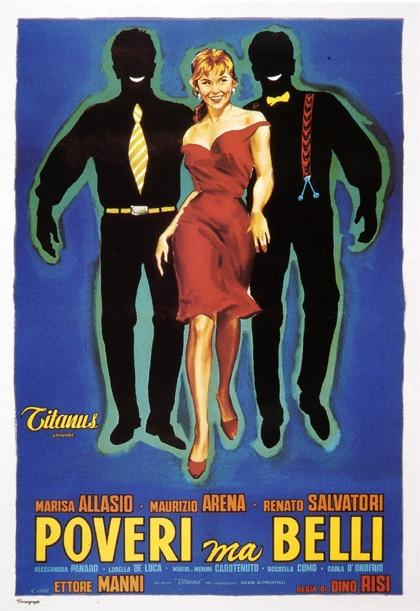 Poveri ma belli 1956 di Dino Risi con Marisa Allasio, Maurizio rena e Renato Salvatori.