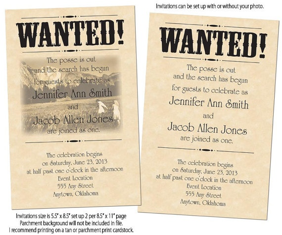 Wedding Invitations Country Theme: 18 Best Wanted Poster Ideas Images On Pinterest