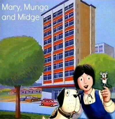 Mary, Mungo & Midge. I always thought that it was quite sophisticated that they lived in a high rise flat. *blush*