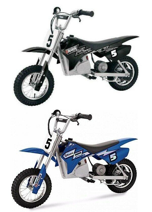 Electric Motocross Dirt Bike Razor 24v Battery Kids Motorcycle Toy Black Blue Razor Kids Motorcycle Motorcycle Motocross