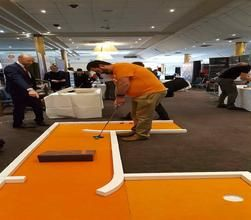 Our fantastic mini golf course is available to book for corporate events in London & the UK.