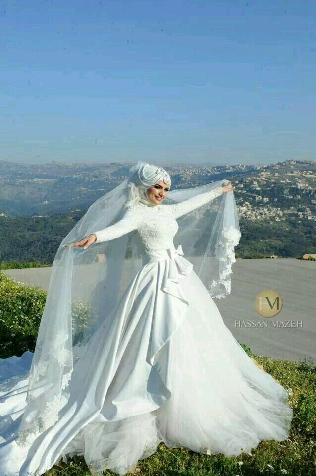 hijab  weeding dress  muslimische hochzeit kleid
