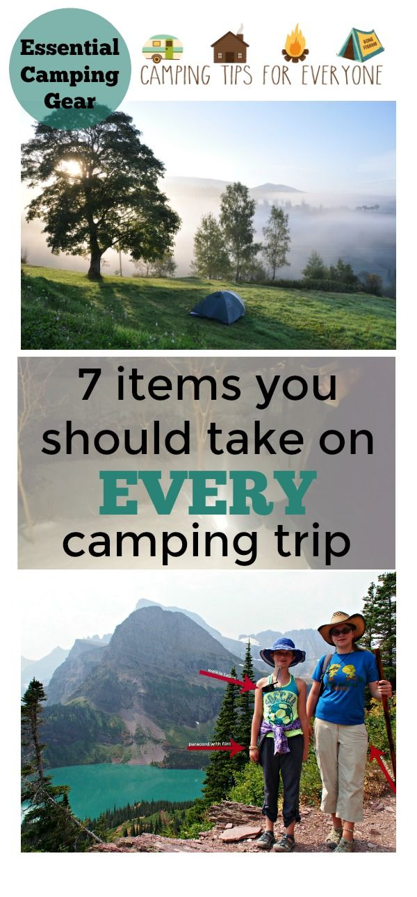 Essential camping gear for any type of camping. The 7 items you must take on every type of camping trip to avoid frustration. #camping #campingtips