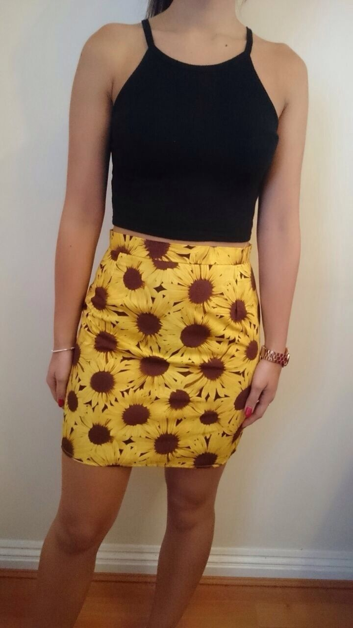 Image of Sunflower Skirt (ready to send)