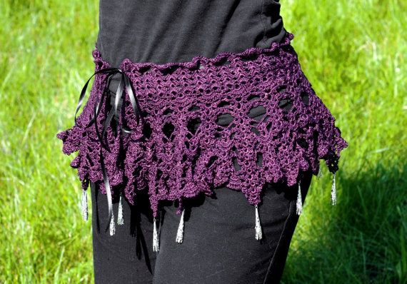 Purple lace hip wrap