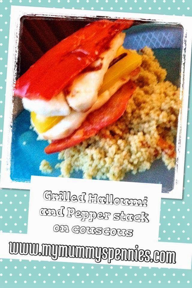 My Mummy's Pennies: Halloumi and Pepper Stack - Quick Summer Meals