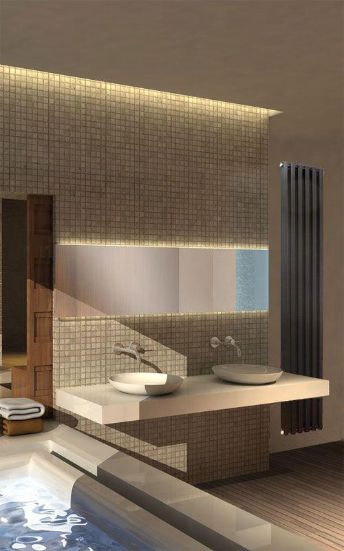 Quadrix® Verticaal Designradiator voor de badkamer via Laurens radiatoren