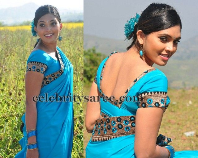 Ishara in Back Neck Blouse | Saree Blouse Patterns