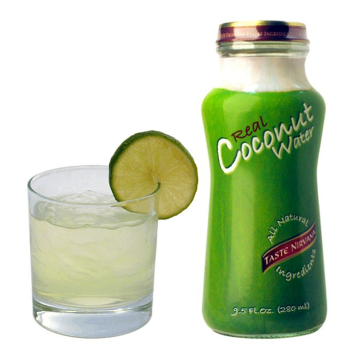 COCO LOCO! | TASTE NIRVANA Coconut Water, 1 oz of rum, a squeeze of lime juice.  Directions: Mix and enjoy!