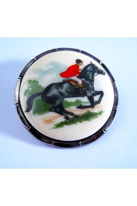 Vintage Horse & Rider Scarf Ring from ScarfRing.Com.