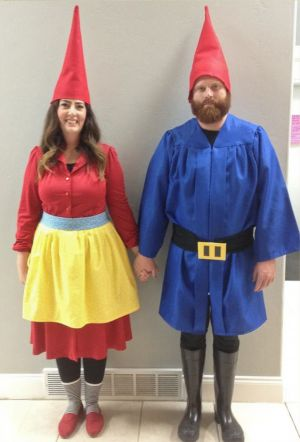 Garden Gnomes Couples Costume Idea #Funny Couples Halloween Costume Ideas…