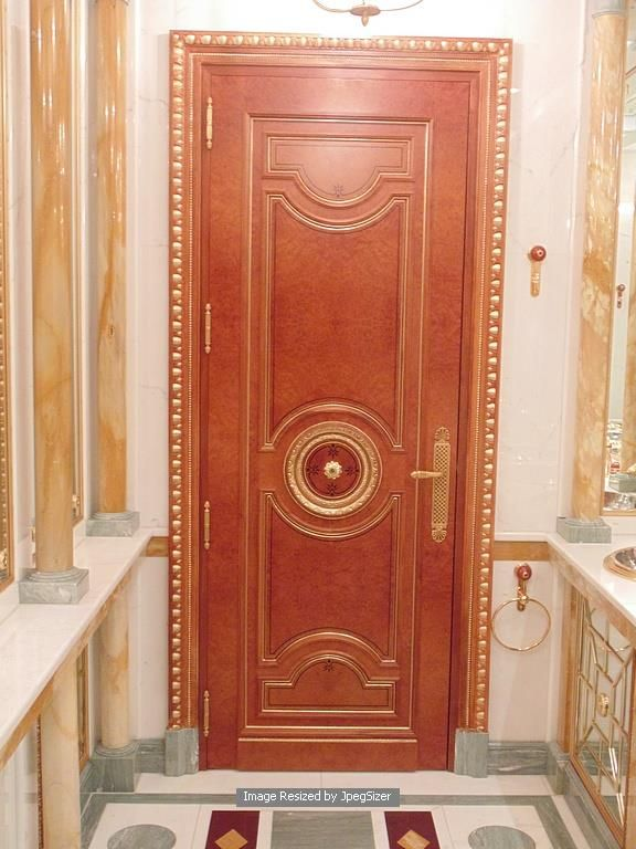 Lot 1246 - A mahogany internal panel doors each door 820 x 2300mm x 50mm
