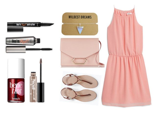 """""""Rose girly pink With Benefit cosmetics"""" by dadacookie on Polyvore featuring Benefit, MANGO, Zara and Victoria Beckham"""