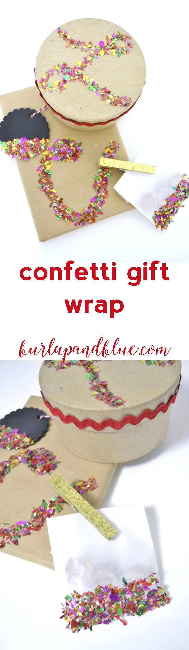 Gift wrapping ideas for home made baked goods - Diy Glitter Gift Wrap A Tutorial