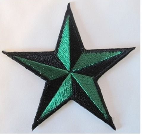 Ecusson patch à coller étoile nautical star vert marin old school rockabilly pin up kawaii