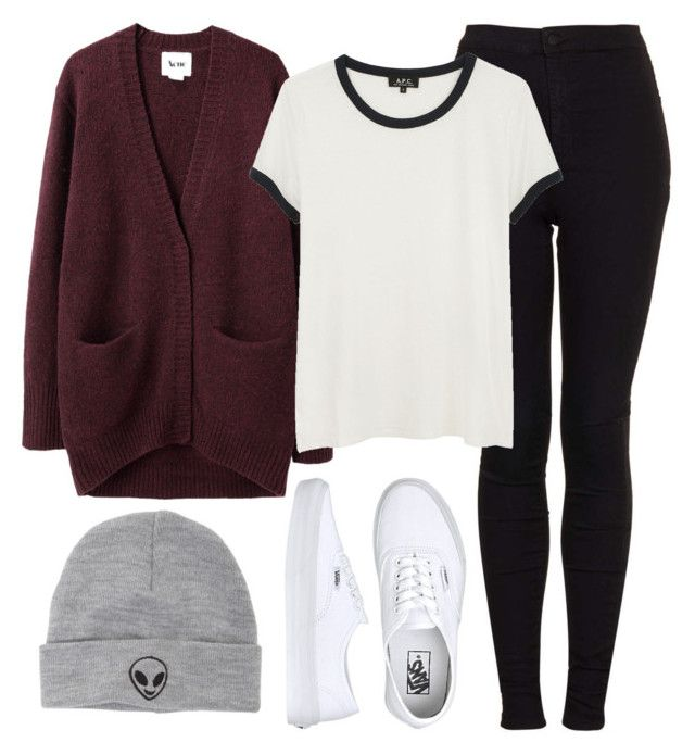 """Lazy day with J-Hope"" by ebenita95 ❤ liked on Polyvore featuring Topshop, Acne Studios, A.P.C., Vans, With Love From CA, women's clothing, women, female, woman and misses"