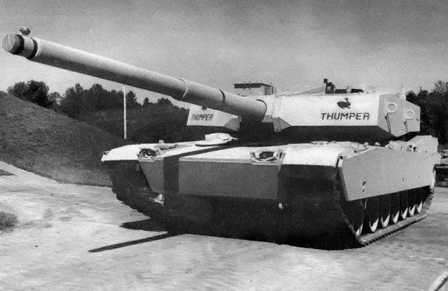 Experimental M1 Thumper Variant Of The Abrams Tank Made By