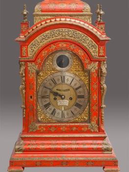 Reloj de sobremesa bracket, hacia 1734, Patrimonio Nacional. Palacio Real, Madrid