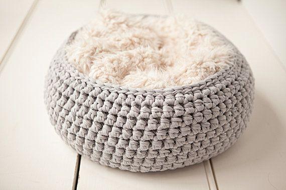 Handmade Cotton Fabric  Basket - Newborn Baby Photography Prop